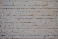 Покрасьте белую предпосылку текстуры кирпичей стоковая фотография rf