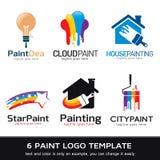 Покрасьте вектор дизайна шаблона логотипа стоковое фото rf