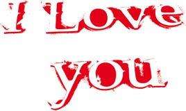 покрасьте влюбленность объявления красным Стоковая Фотография