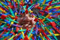 покрасьте девушку взрыва милым Стоковое фото RF