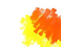 покрасьте желтый цвет воды текстуры краски красный Стоковая Фотография RF