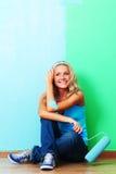 покрасьте женщину стены Стоковое Изображение RF