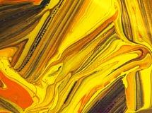 Покрасьте желтую картину на бумажных искусствах текстуры конспекта предпосылки Стоковое Изображение