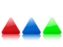 покрасьте икону триангулярным Стоковые Фотографии RF