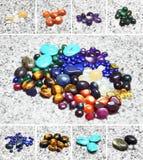 покрасьте камни различным Стоковые Фото