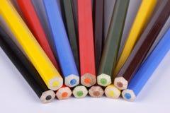 покрасьте карандаши конечных граней различной Стоковое фото RF