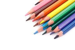 покрасьте карандаши триангулярным стоковое изображение rf