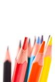 покрасьте карандаши триангулярным Стоковое фото RF
