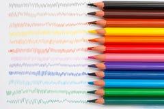 покрасьте карандаши триангулярным Стоковое Фото