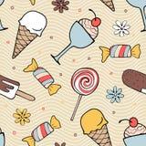 Покрасьте картину десертов безшовную Стоковая Фотография RF