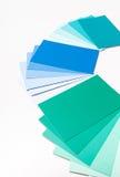 Покрасьте карточки образца Стоковые Фотографии RF