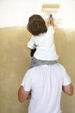 Покрасьте комнату стоковое изображение