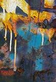 Покрасьте конспект ржавчины потека Стоковое Изображение RF
