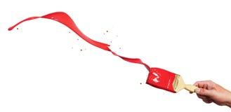 покрасьте красный выплеск Стоковое Изображение