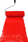 покрасьте красный ролик стоковое фото
