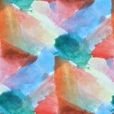 Покрасьте красочный апельсин, голубой цвет конспекта текстуры воды картины Стоковая Фотография