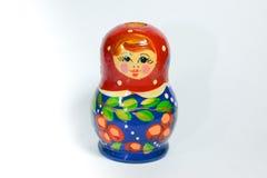 Покрасьте куклу woodcarving красную голубую Стоковое Изображение RF