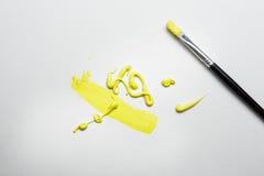 Покрасьте куст на белой бумаге стоковая фотография rf