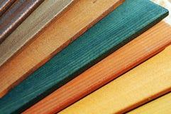 покрасьте образцы деревянной Стоковая Фотография