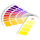Покрасьте образцы для того чтобы определить предпочтения в полиграфической промышленности Стоковые Фотографии RF