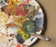 покрасьте палитру Стоковая Фотография