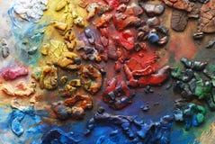 покрасьте палитру стоковые фотографии rf
