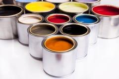 покрасьте палитру стоковые фото