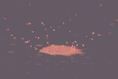 Покрасьте падение брызгая на черноте фильтр предпосылки винтажный ретро иллюстрация штока