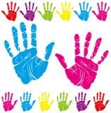 покрасьте печать руки бесплатная иллюстрация