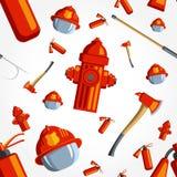 Покрасьте пожарного картины вектора безшовный Стоковые Фотографии RF