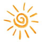 покрасьте покрашенное солнце Стоковая Фотография