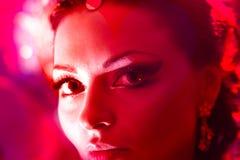 покрасьте портрет девушки красным Стоковое Изображение RF