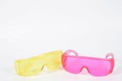 Покрасьте предохранение от защитного стекла ультрафиолетов для работника Стоковые Фото