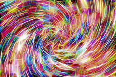 Покрасьте разнообразную предпосылку Яркие цвета переплетаннсяых пестротканых линий яркость, цвет, расцветка, абстракция иллюстрация штока