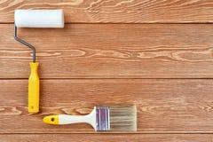 покрасьте ролик paintbrush Стоковая Фотография RF