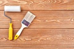 покрасьте ролик paintbrush Стоковые Изображения RF