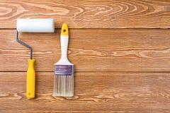 покрасьте ролик paintbrush Стоковые Фотографии RF