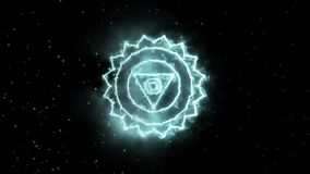 Покрасьте символ chakra йоги, большой для дизайна, chakra горла