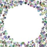 Покрасьте случайную предпосылку точки - ультрамодную иллюстрацию вектора от красочных кругов Стоковая Фотография