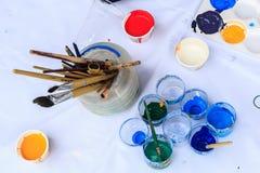 Покрасьте смеситель для того чтобы покрасить Стоковое Изображение
