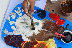 Покрасьте смеситель для того чтобы покрасить Стоковые Изображения