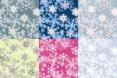 покрасьте снежинки картин вариантов безшовные Стоковые Фото