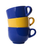 покрасьте стог чашек различный огромный Стоковые Фотографии RF