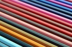 Покрасьте текстуру диагонали градиента карандашей Стоковая Фотография RF
