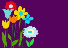 покрасьте темный сад пурпуровой Стоковое Фото