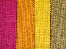 покрасьте тон образца ткани горячий стоковая фотография rf