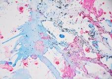 Покрасьте формы акварели яркие и сверкная света, абстрактную предпосылку Стоковые Изображения RF