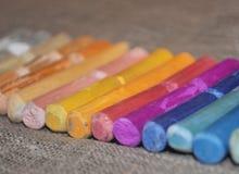 Покрасьте художническую пастель crayons некоторое стоковые изображения rf