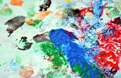 Покрасьте цвета и оттенки Абстрактная влажная предпосылка краски Пятна картины стоковое фото