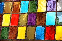 Покрасьте цвета коробки Стоковое Фото